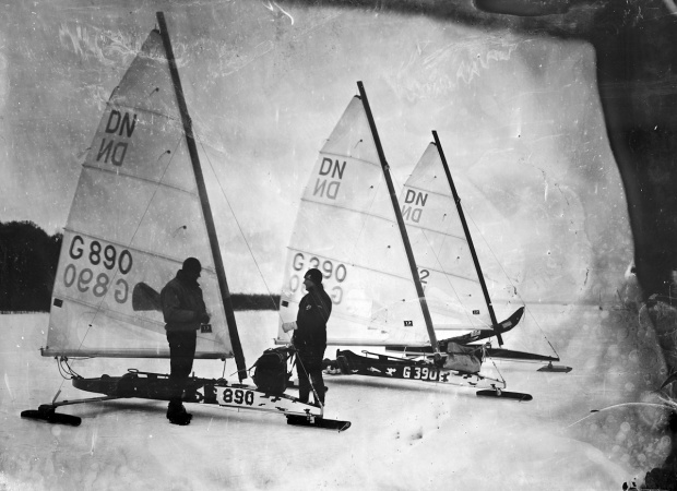 checking the ice yachts